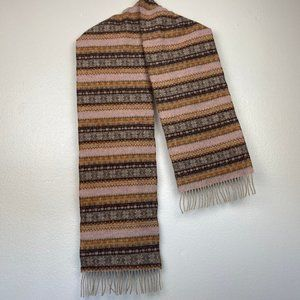 Barbour Pattern Wool Fringe Scarf